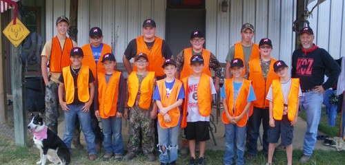Hunters Safety training at KOZ summer camp 2013