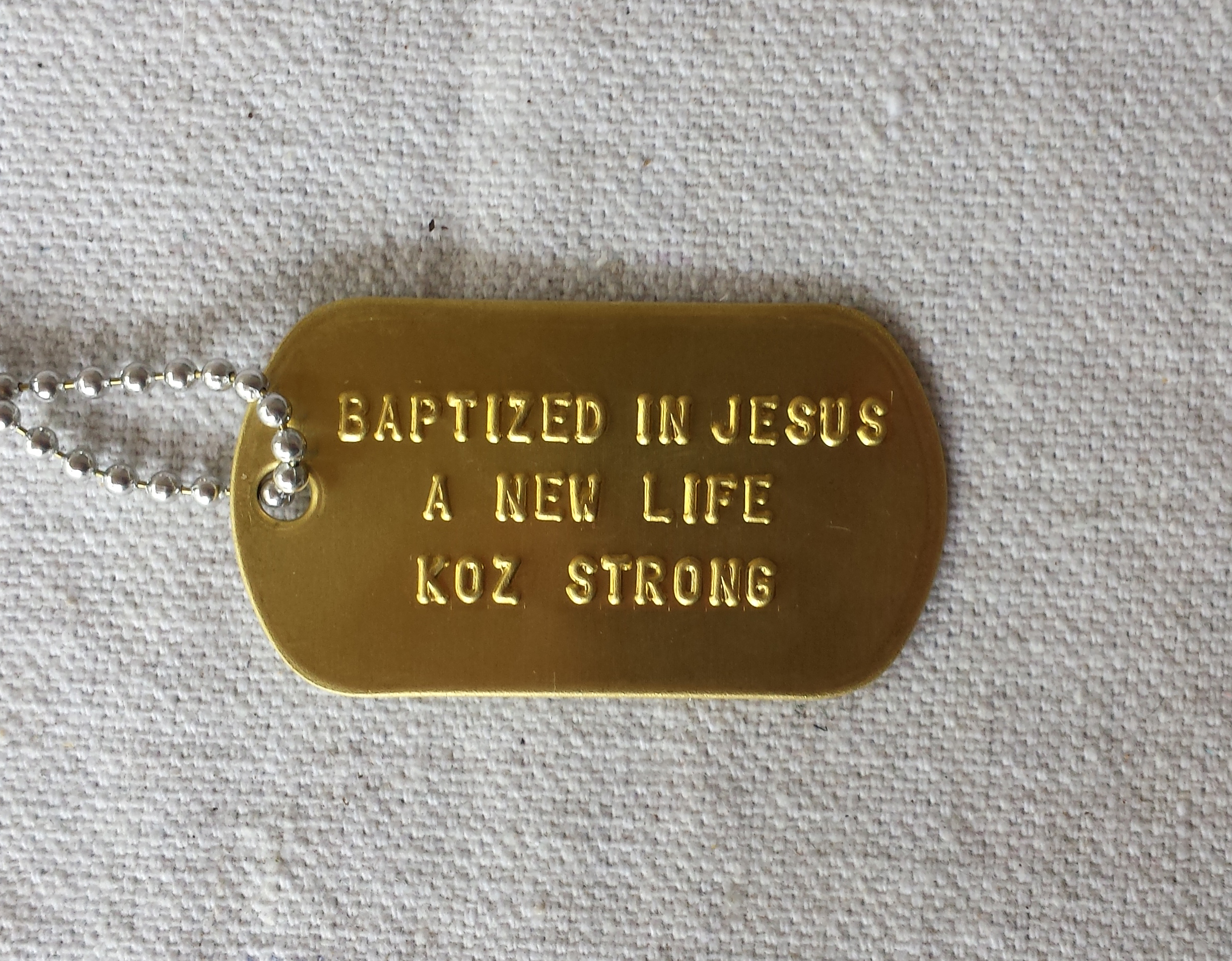 Fabulous Koz Baptism Dog Tag Download Free Architecture Designs Intelgarnamadebymaigaardcom