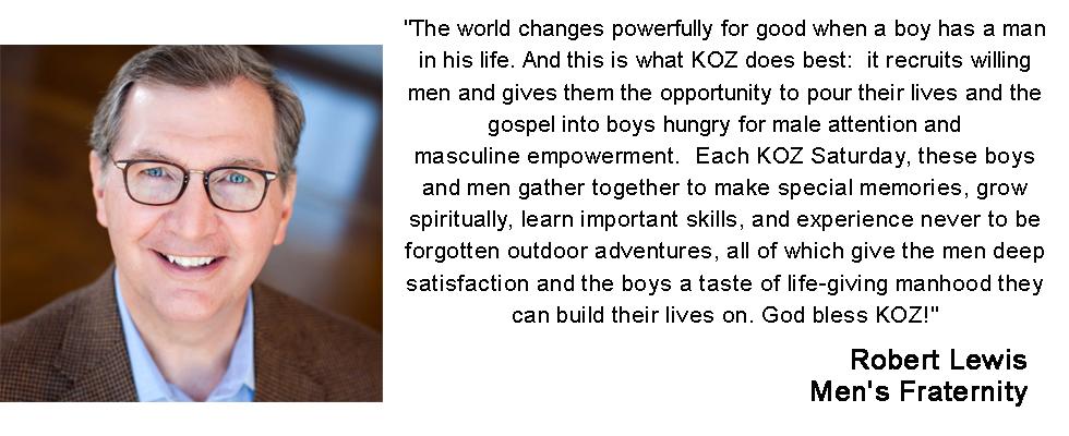 Robert Lewis, Men's Fraternity & KOZ