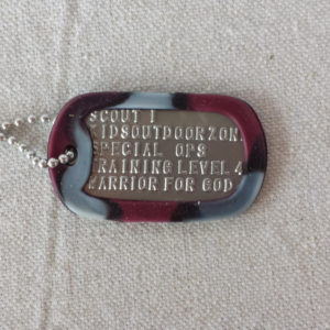 Scout I dog tag